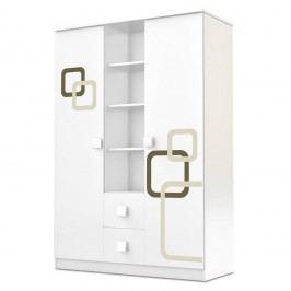 Dulap cu 2 uși și sertare Faktum Polly, alb