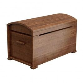 Cufăr din lemn de pin Faktum Tomi, maro închis