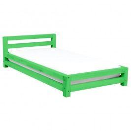 Pat pentru o singură persoană din lemn de pin Benlemi Single, 90 x 200 cm, verde