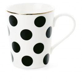 Cană din ceramică Miss Étoile CoffeeBig Black Dots, Ø 8 cm