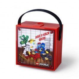 Cutie depozitare cu mâner LEGO® Ninjago, roșu