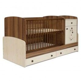 Pătuț pentru copii cu sertar Faktum Makao Medvídek Kombi, 70 x 120 cm