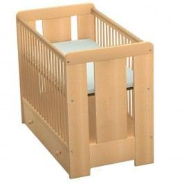 Pătuț pentru copii cu bandă de protecție Faktum Mia, 60 x 120 cm, decor lemn de fag