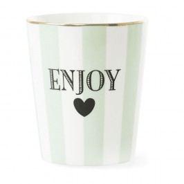 Cană din ceramică Miss Étoile Stripe Aqua Green