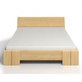 Pat dublu din lemn de pin SKANDICA Vestre Maxi, 200 x 200 cm