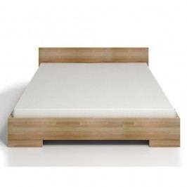 Pat dublu din lemn de fag, cu spațiu de depozitare, SKANDICA Spectrum Maxi, 140 x 200 cm