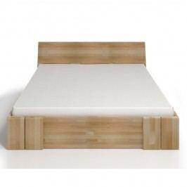 Pat dublu din lemn de fag, cu sertar, SKANDICA Vestre Maxi, 180 x 200 cm