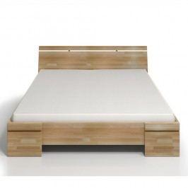 Pat dublu din lemn de fag, cu spațiu de depozitare, SKANDICA Sparta Maxi, 160 x 200 cm