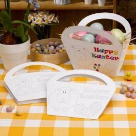 Set 4 coșuri din hârtie pentru colorat Neviti Easter Craft