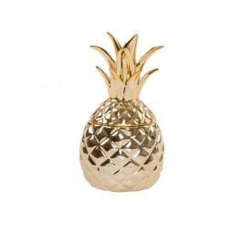 Recipient decorativ cu capac Sass & Belle Gold Pineapple