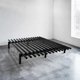 Cadru pat din lemn de pin Karup Pace, 180 x 200 cm, negru