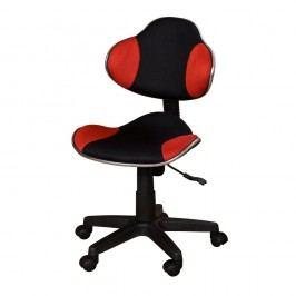 Scaun de birou SOB Office, negru-roșu