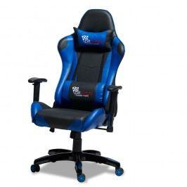 Scaun de birou Knuds Gaming, albastru - negru