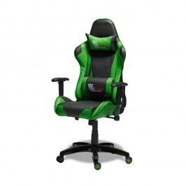 Scaun de birou Knuds Gaming, verde - negru