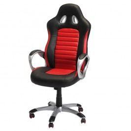 Scaun de birou Knuds Speedy 2, negru-roșu