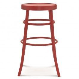 Scaun de bar, din lemn, Fameg Niels, roșu