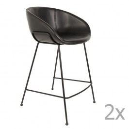 Set 2 scaune bar Zuiver Feston, înălțime scaun 65cm, negru