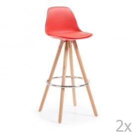 Set 2 scaune bar La Forma Stag, roșu
