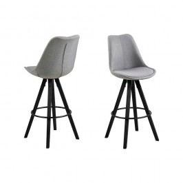 Set 2 scaune de bar Actona Damia, gri