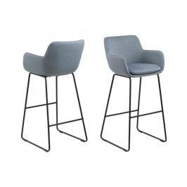 Set 2 scaune de bar Actona Lisa, albastru