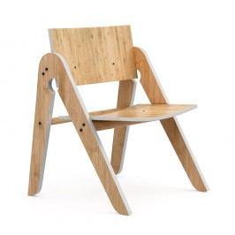 Scaun din bambus We Do Wood Lilly's, maro-gri