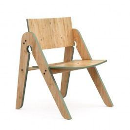 Scaun din bambus We Do Wood Lilly's, maro-verde