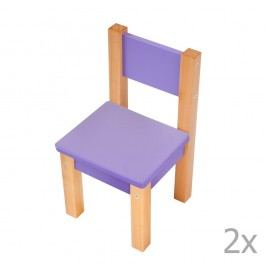 Set 2 scaune pentru copii Mobi furniture Mario, mov