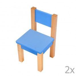Set 2 scaune pentru copii Mobi furniture Mario, albastru