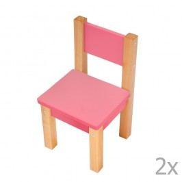 Set 2 scaune pentru copii Mobi furniture Mario, roz