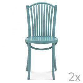 Set 2 scaune de lemn Fameg Jorgen, albastru
