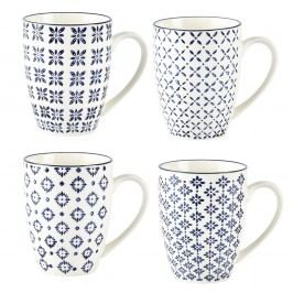 Set 4 căni Villa Collection Pattern Classic, 350 ml
