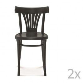 Set 2 scaune de lemn Fameg Mathias, negru