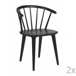 Set 2 scaune Folke Carmen, negru