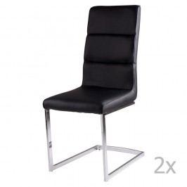 Set 2 scaune sømcasa Camile, negru