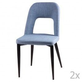Set 2 scaune sømcasa Anika, albastru deschis