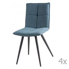 Set 4 scaune sømcasa Zoe, albastru deschis