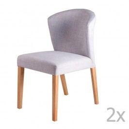Set 2 scaune sømcasa Alina, gri deschis