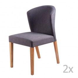 Set 2 scaune sømcasa Alina, gri închis