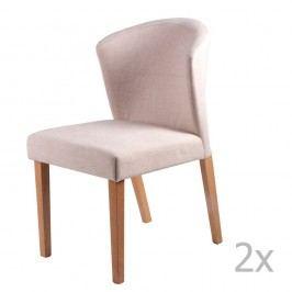 Set 2 scaune sømcasa Alina, bej