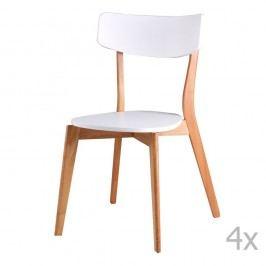 Set 4 scaune sømcasa Ava, alb