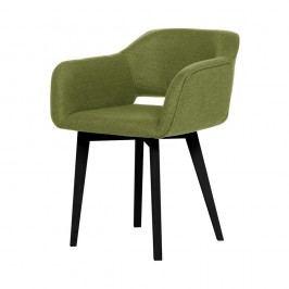 Scaun cu picioare negre My Pop Design Oldenburg, verde