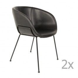 Set 2 scaune Zuiver Feston, negru