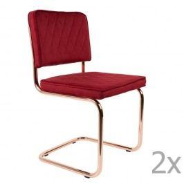 Set 2 scaune Zuiver Diamond, roșu