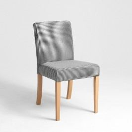 Scaun cu picioare de culoare naturală, Custom Form Wilton, negru - alb