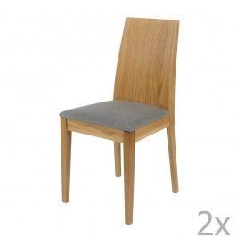 Set 2 scaune, structură din lemn masiv de stejar Woodman Niemi