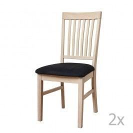 Set 2 scaune din lemn de stejar Knuds Mette