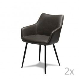 Set 2 scaune Knuds Maria, gri
