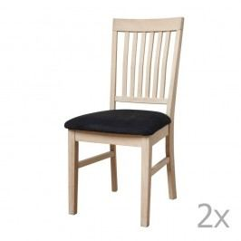 Set 2 scaune tapițate din lemn de stejar Knuds Mette