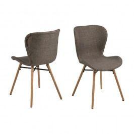 Set 2 scaune Actona Batilda, kaki