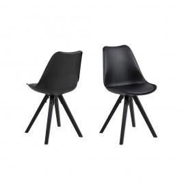 Set 2 scaune Actona Damia, negru